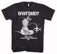 What Would Flying Spaghetti Monster Do? Mens T-Shirt