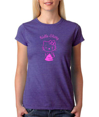 Hello Kitty's New Friend Women's Purple T-shirt