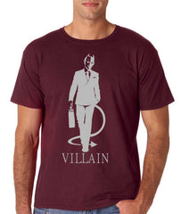 Villain Mens Maroon T-shirt