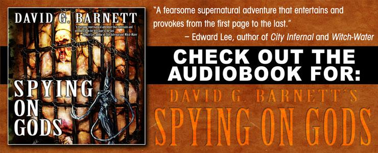 Buy the audiobook for Spying on Gods