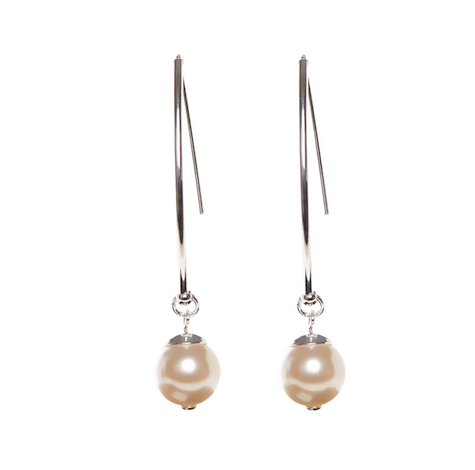 Happy Together Swarovski Cream pearl earrings with sterling silver ear wires