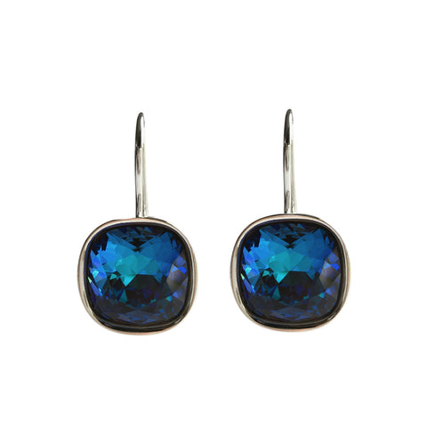 Bermuda Blue A Movie Script Ending Swarovski Crystal earrings