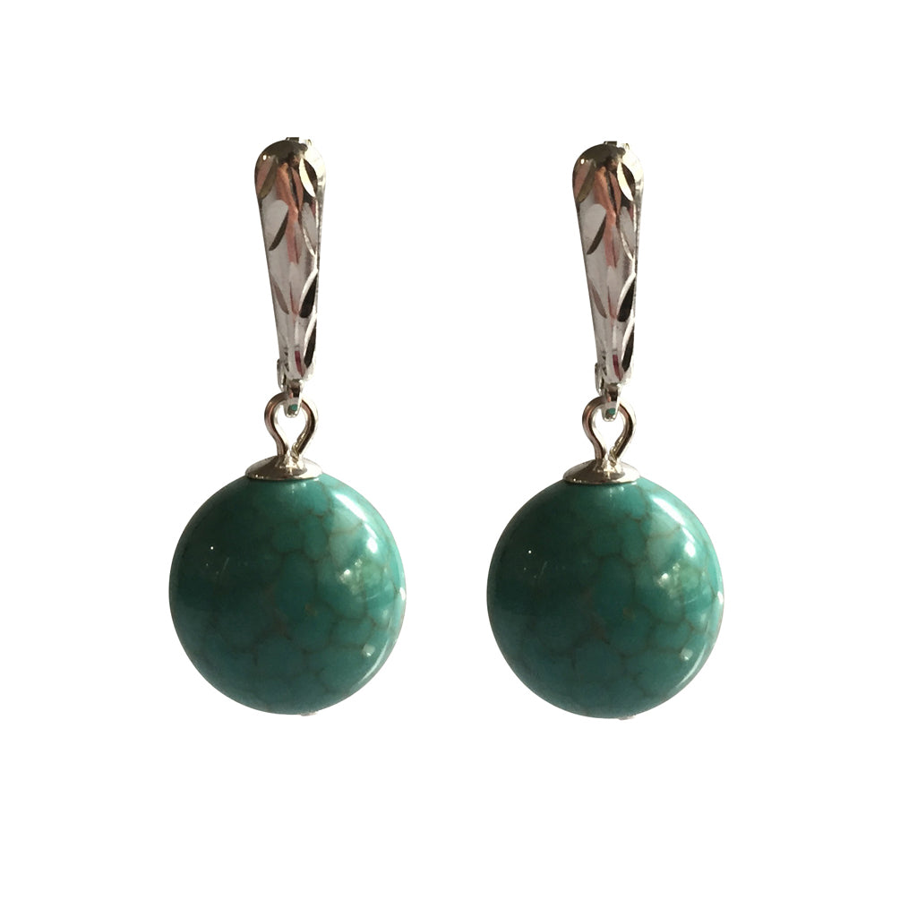 Adore Magnesite earrings with sterling silver ear wires