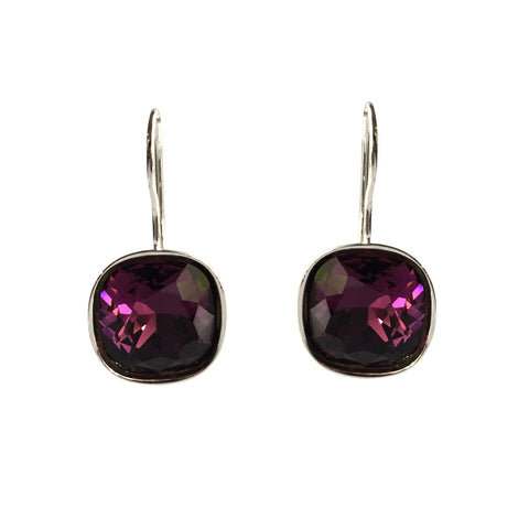 Amethyst A Movie Script Ending Swarovski Crystal earrings