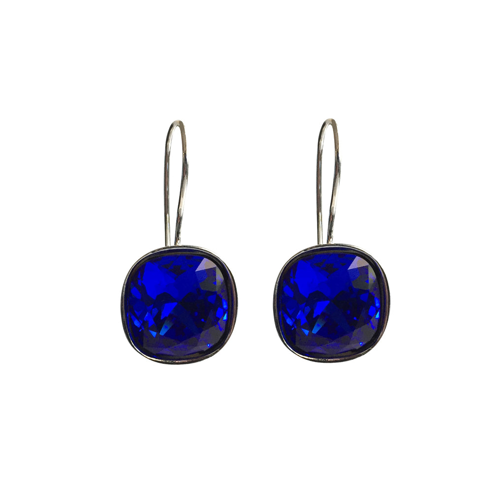 Majestic Blue A Movie Script Ending Swarovski Crystal earrings