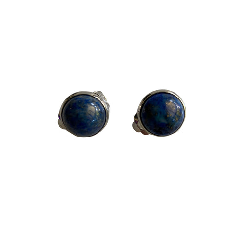 Lapis Lazuli and stainless steel clip-on earrings
