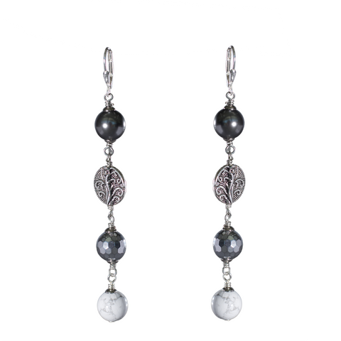 Suspicious Minds - Howlite, Hematite and Grey