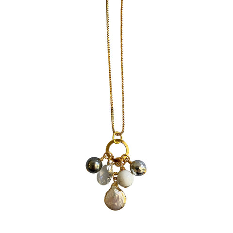 West End Girls - Howlite and Grey (Gold)