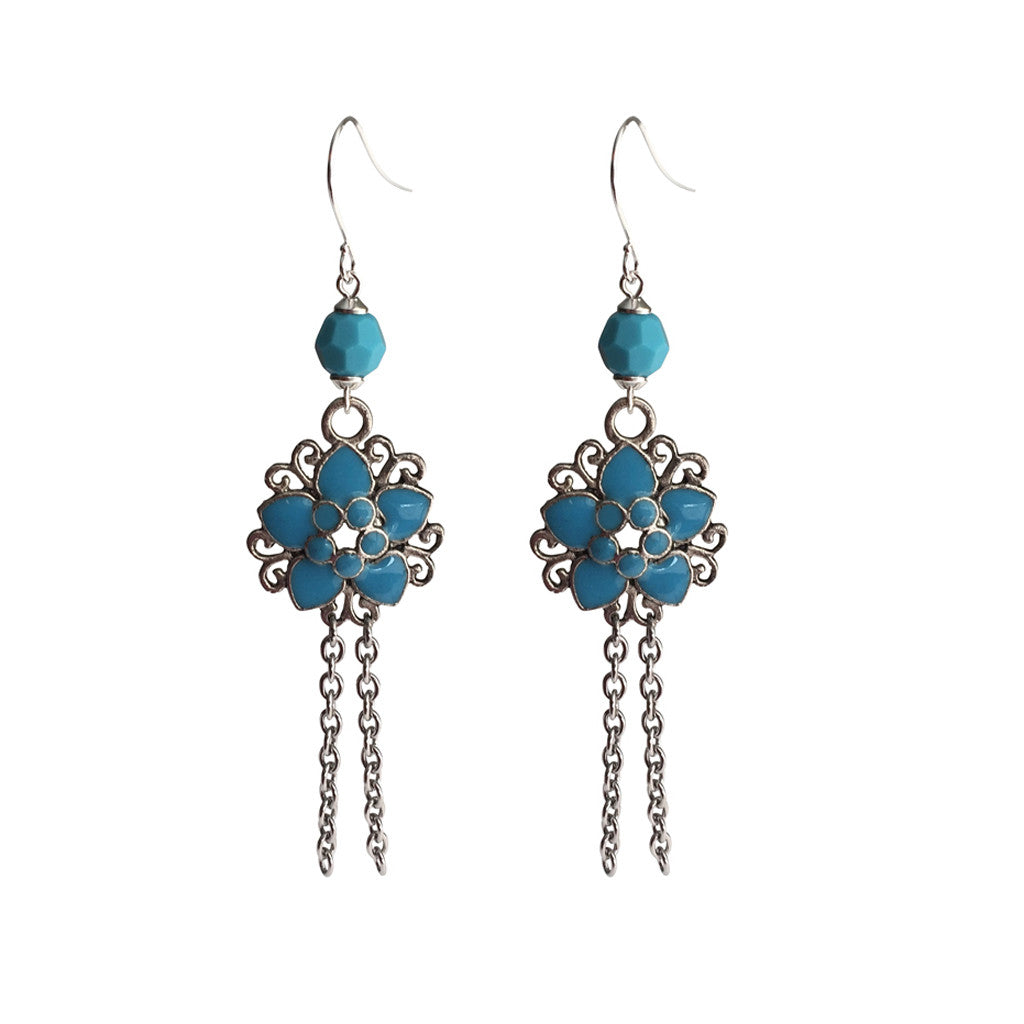 Right Here Waiting - Turquoise Swarovski crystals