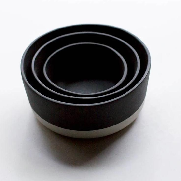 Black Banded Nesting Bowl (Medium)