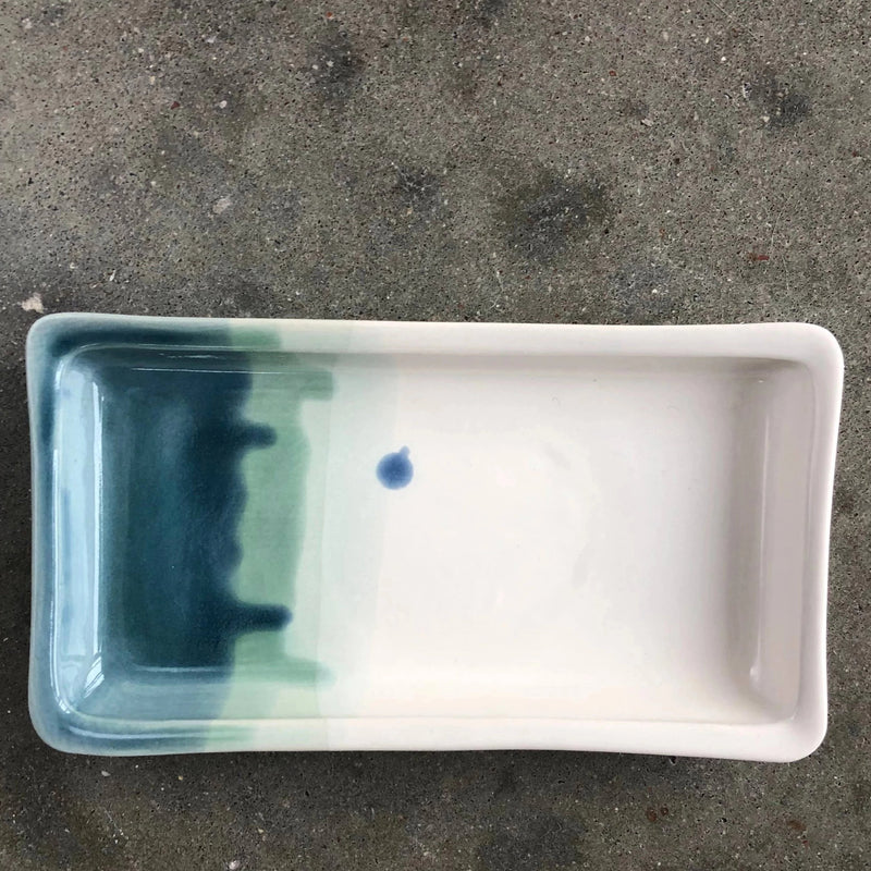Ceramic Jewelry Tray in Ocean