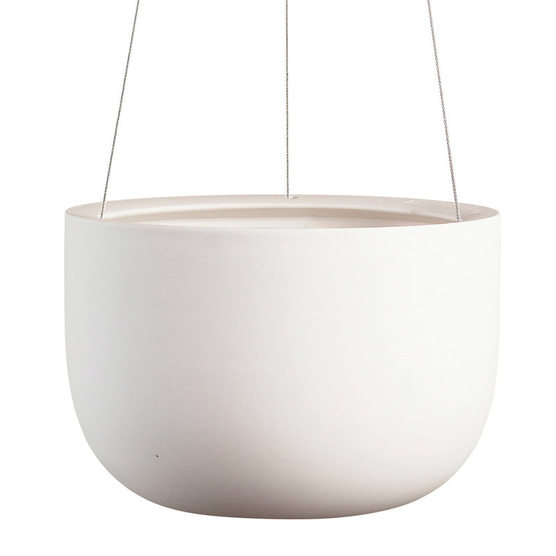 Raw Earth Chalk White Hanging Planter