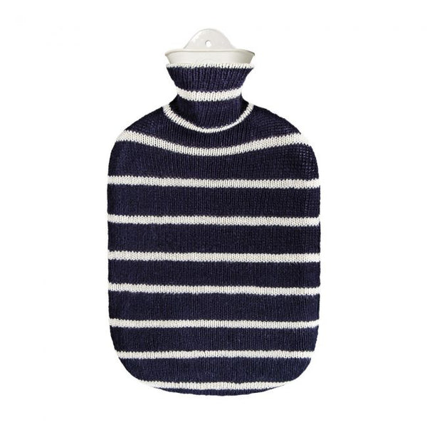 Cotton Stripe Hot Water Bottle
