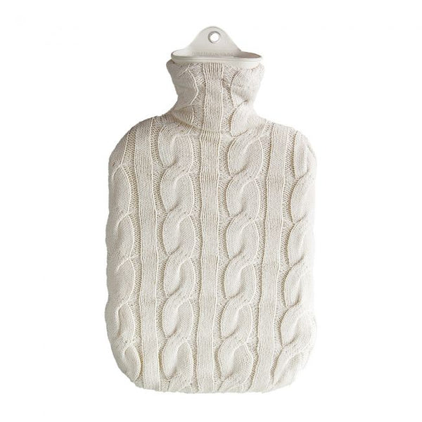Cream Cable Knit Hot Water Bottle