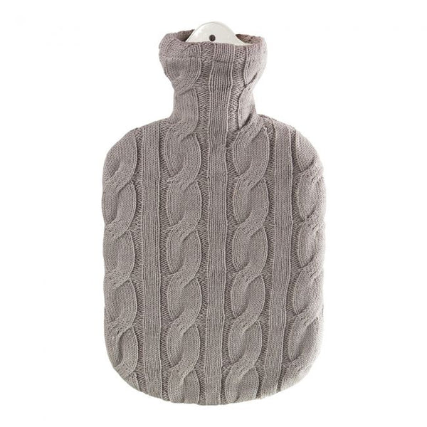 Taupe Cable Knit Hot Water Bottle