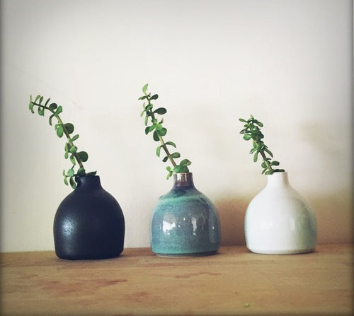 Small Black Bud Vase