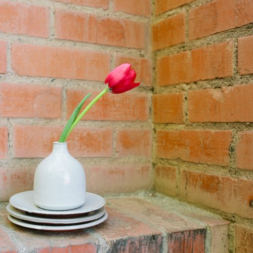 Small White Bud Vase