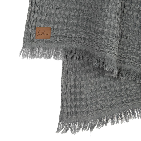 Stone Washed Waffle Throw