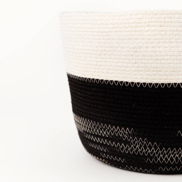 Handmade Large Black and White Sketch Bucket