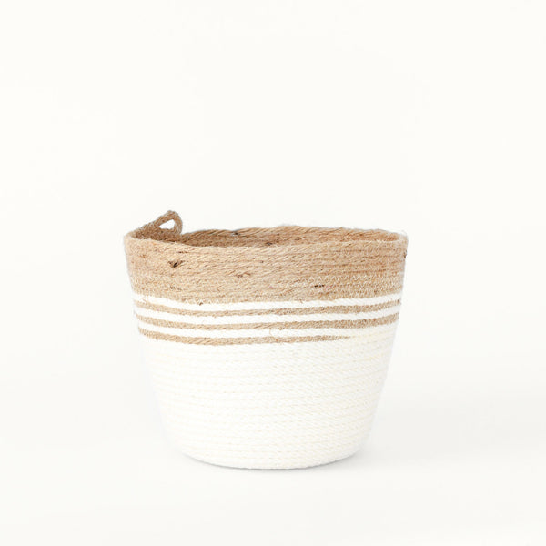 Handmade Medium Chunky Jute Basket