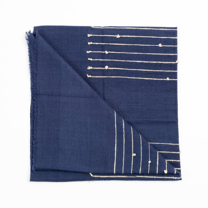 Indigo Merino Blanket & Throw