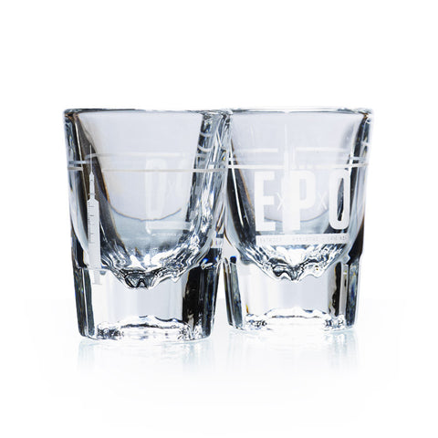 Pair of 'Perfect Shot' EPO Espresso Glasses