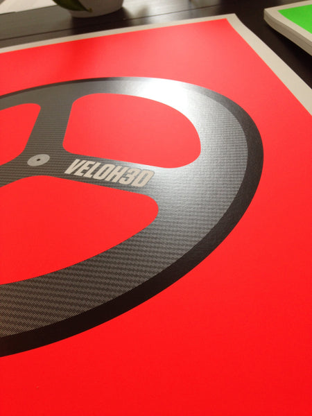 VELOH3D Screenprint – Flouro Red