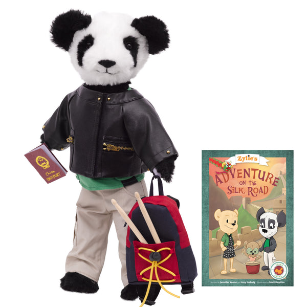 "Shen the Panda Adventure Kit 18"" Dressable Teddy Bear Toy Zylie's Friend Product Image"