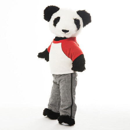 "Shen 18"" dressable teddy bear toy in fashionable pajamas"