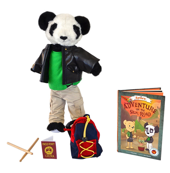 "Shen the Panda Adventure Kit 18"" Dressable Teddy Bear Toy Zylie's Friend Dynamic Product Image"