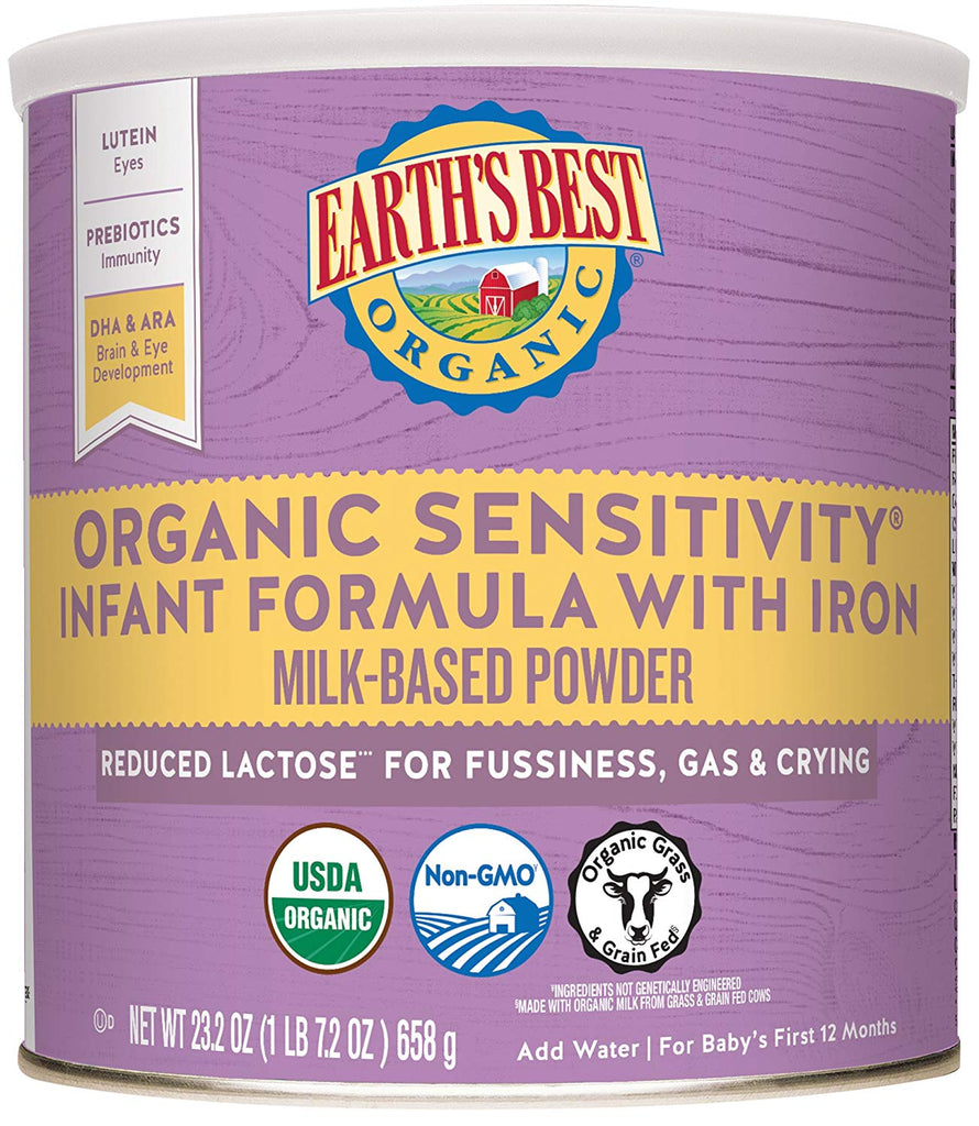 Earth's Best Organic Case of 4 - Infant Formula with Iron - Babies Nutrition