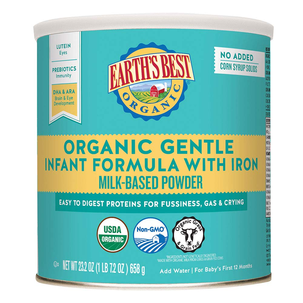 Earth's Best Organic Gentle Infant Formula with Iron 23.2oz (Case of 4) - Babies Nutrition