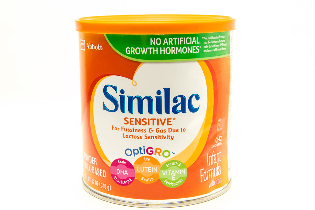Similac Sensitive case of 6-12 oz can's