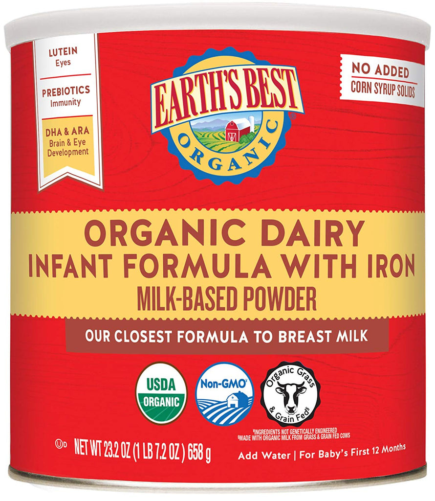 Earth's Best Organic Dairy Infant Case of 4 - 23.2 oz - Babies Nutrition