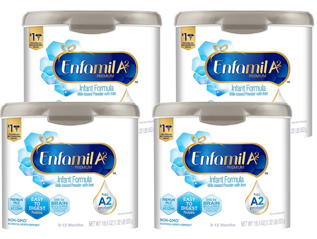 Enfamil Infant A2 Formula Powder (4-19.5oz) Non-GMO