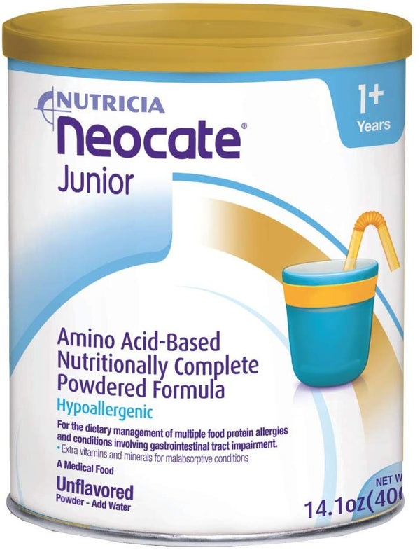 Neocate Junior, Unflavored, 14.1 oz / 400 g (Case of 4 cans) - Babies Nutrition