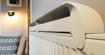 Radfan Long on radiator in lounge