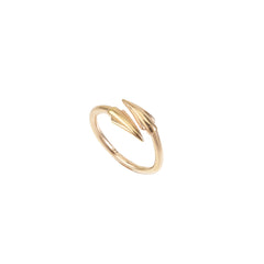 Rose Vermeil Plain Spear Ring
