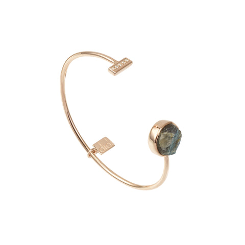 Labradorite Cylinder Bangle