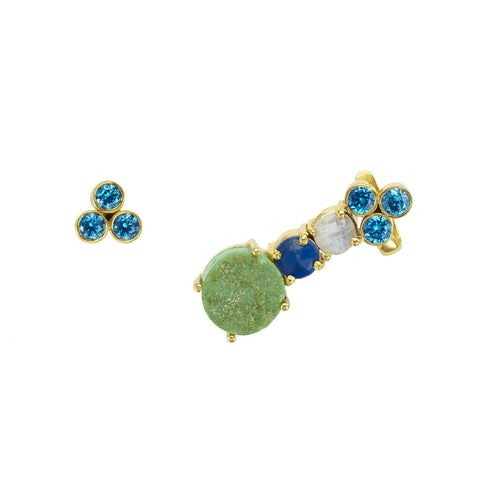 Chrysoprase Boudicca Ear Cuff with Stud