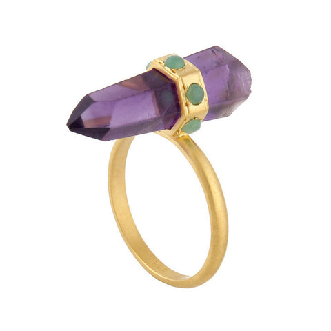 Amethyst Banded Ring