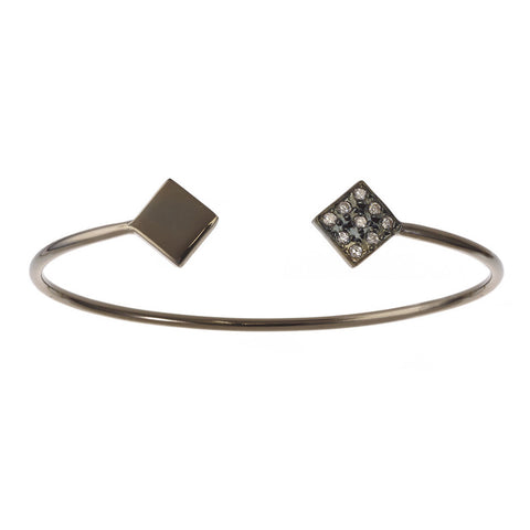 Black Silver Pave Bangle