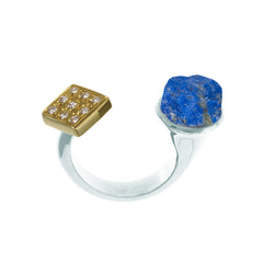 Lapis Nugget Ring