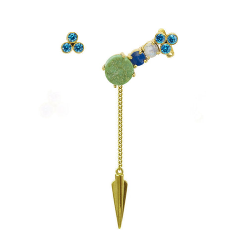 Chrysoprase Boudicca Detachable Spear Ear Cuff