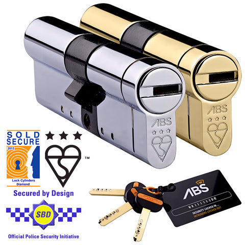 Avocet ABS MK3 Euro Cylinder - High Security Door Lock - Key Both Sides - Keyed Alike
