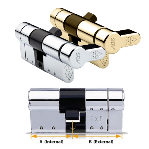 Avocet ABS Euro Key And Turn Thumbturn (Quantum) Cylinder - High Security Door Lock