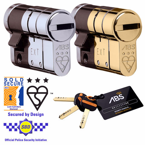Avocet ABS Half Euro Cylinder - High Security Lock - Key One Side - Keyed Alike