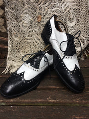 Chicago Black and White Spectator Shoes