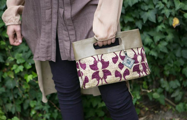 Mushmina Casablanca Clutch in Plum