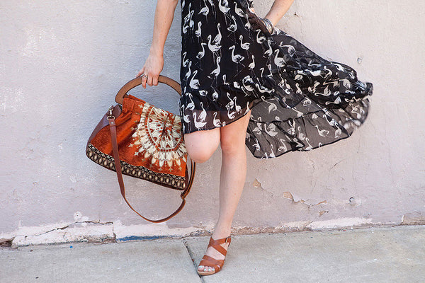 Mushmina Lela Bag in Amber